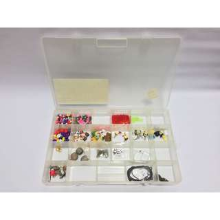 Box of Beads, Bells, Chains, Charms, Connectors & Strings