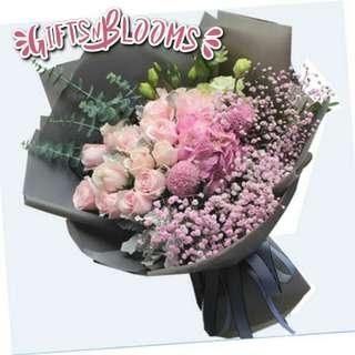Flower Bouquet∕Hand Bouquet∕Birthday Bouquet∕Anniversary Bouquet∕Proposal Bouquet  - 8B5D9     87