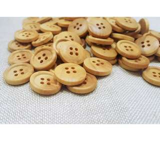 WB10146 - 18mm plain design wooden buttons, wood buttons (10 pieces)  #craft