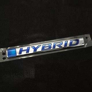 Honda original Hybrid Logo / Emblem