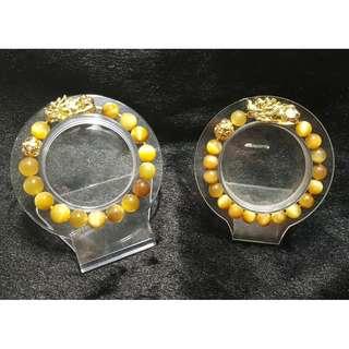 Couple Set Golden / Honey Tiger Eye (金虎眼) with Pi Xiu