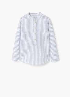 Mango Kids Striped Collar Shirt