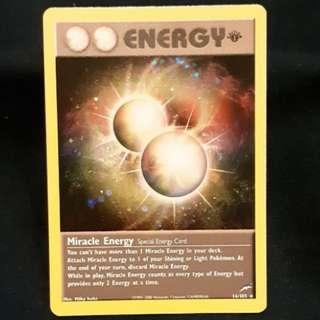 Miracle Energy Pokemon Card