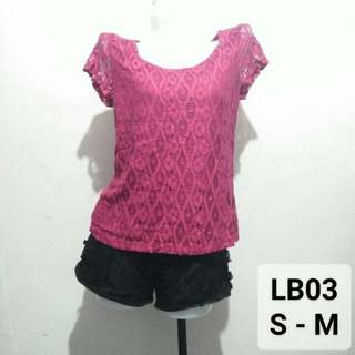 Lace pink blouse