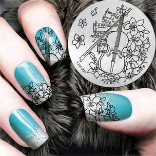YZWLE 1Pc High Quality Nail Stamping Plates Stainless Steel Image Stamping Nail Art Manicure Template Nail Stamp Tools