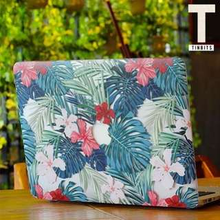 🚚 INSTOCK Tropical Red Hibiscus Floral Transparent Macbook Hard Cover Case