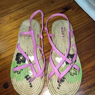 Roxy Pink Espadrille Sandals