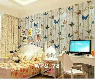 Wallpaper Dinding Motif Butterfly Uk. 10m
