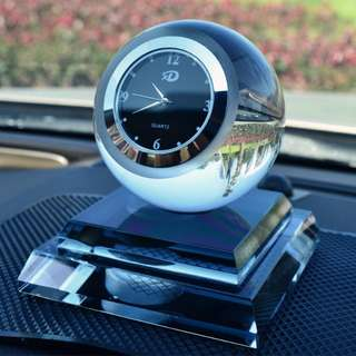 Crystal ball Automotive interior accessories Glass Creative clocks & Perfume holder