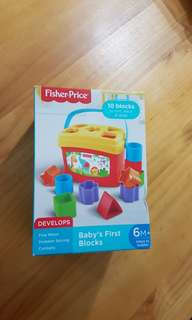 Fisher Price  Baby first blocks shape sortrr