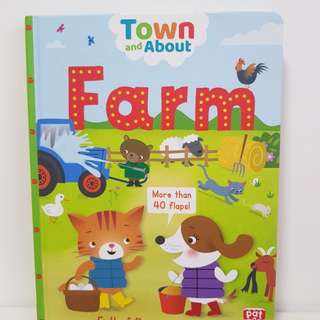 Children Farm Board Book with 40 Flaps and Facts