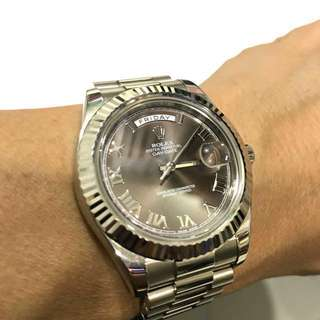 Rolex Day-Date 41mm White Gold Roman Dial