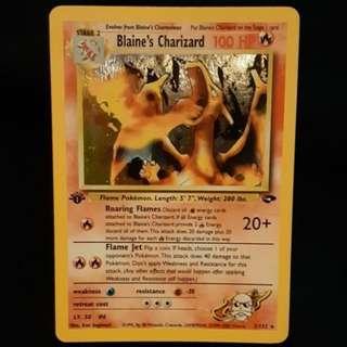 Blaine's Charizard 1st Edition Pokemon Card