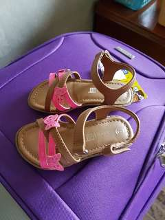 Pink butterfly sandals