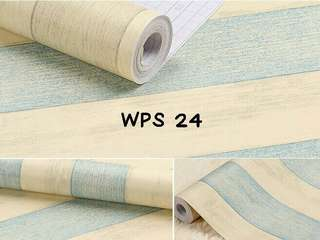 Wallpaper Dinding Motif Cream Blue List Uk. 10m