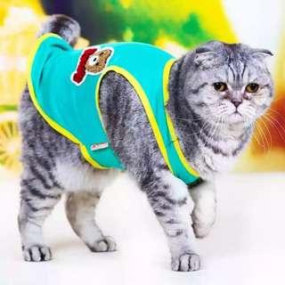 🚚 【預購】夏天貓咪背心 貓貓衣服 情侶裝 貓咪衣服 小貓服饰 寵物背心