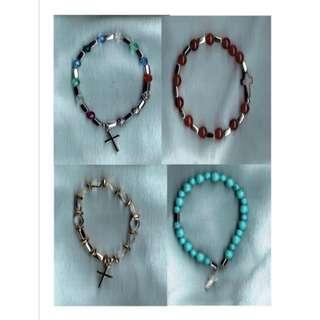 One Decade Stretch Rosary Bracelet