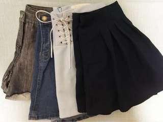 韓式牛仔裙 牛仔褲 短裙 裙褲