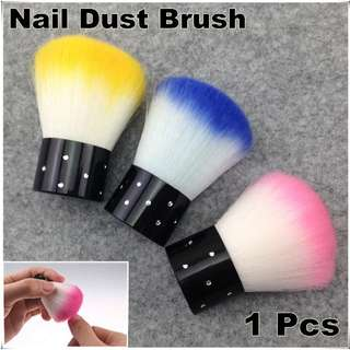 1 x Colorful Nail Tools Brush For Acrylic & UV Gel Nail Art Dust Cleaner + Free Shipping (NR - WS4)