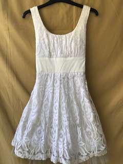 XOXO White Lace Dress