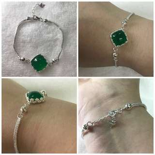 Bracelet Jade Pure Silver 990