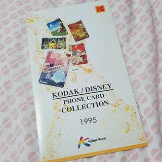 KODAK / DISNEY Phone card collection 1995