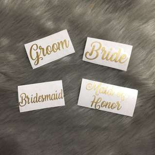 Personalized Decal Stickers