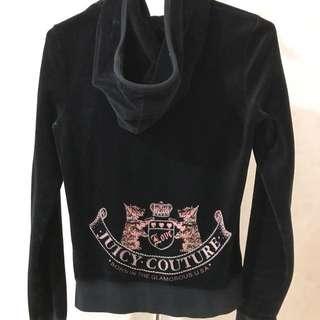 Juicy Couture Black tracksuit jacket hoodie 褸 連帽衣