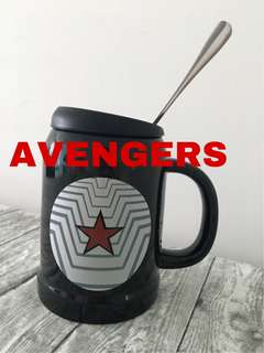 Avengers Mug with Lid Spoon
