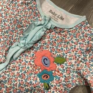 Sweet floral baby sleepsuit