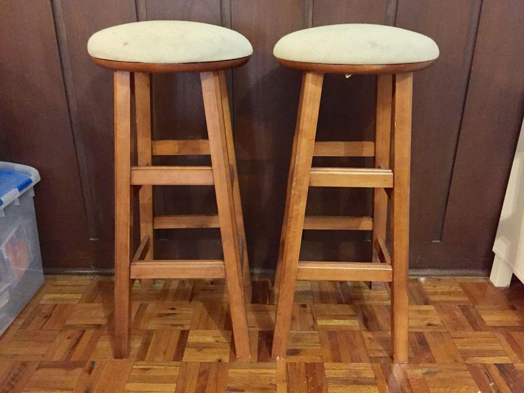 2 Wood Stools