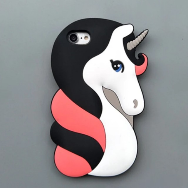 various colors 942a6 8ea13 3D Unicorn iPhone X Case iPhone 8 7 6 Plus Case Fashion Silicone Hard  Protective iPhone Cover