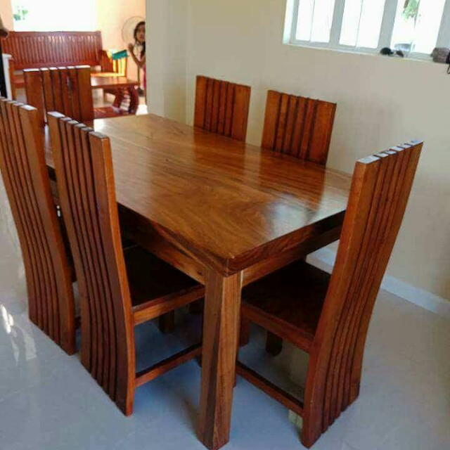 6 seater mahogany dining (made to order) 8f743943b7