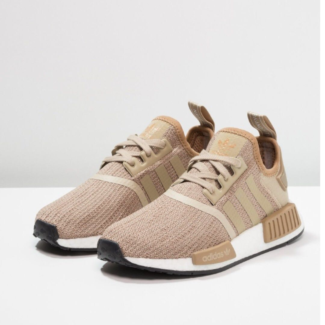 huge discount b90e4 3753c Authentic Adidas Originals NMD R1 Raw Gold, Mens Fashion, Footwear on  Carousell