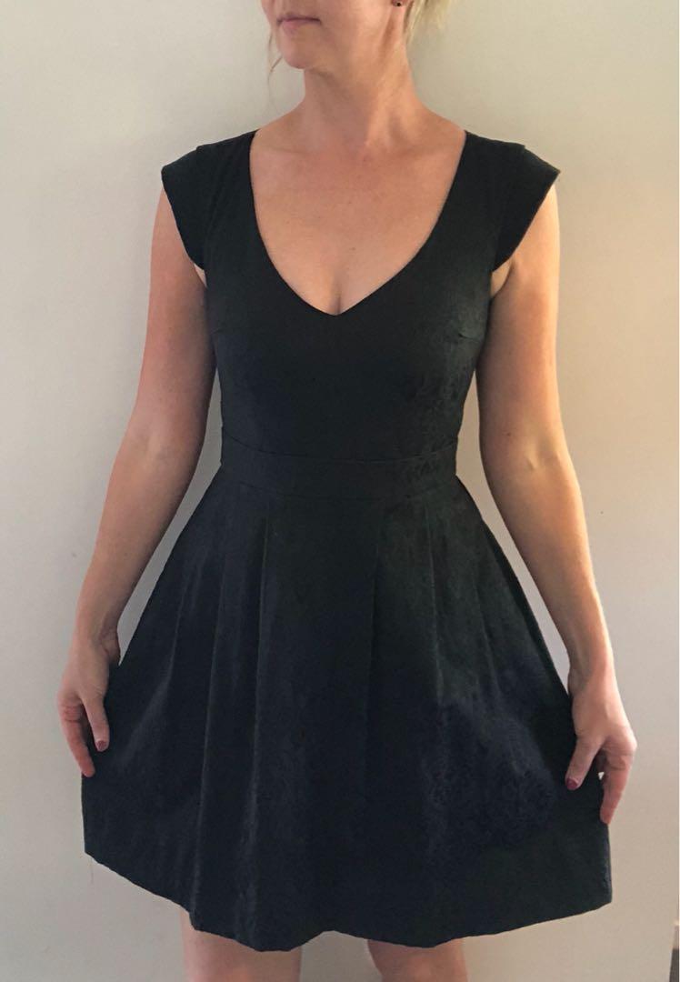 Black skater style party dress