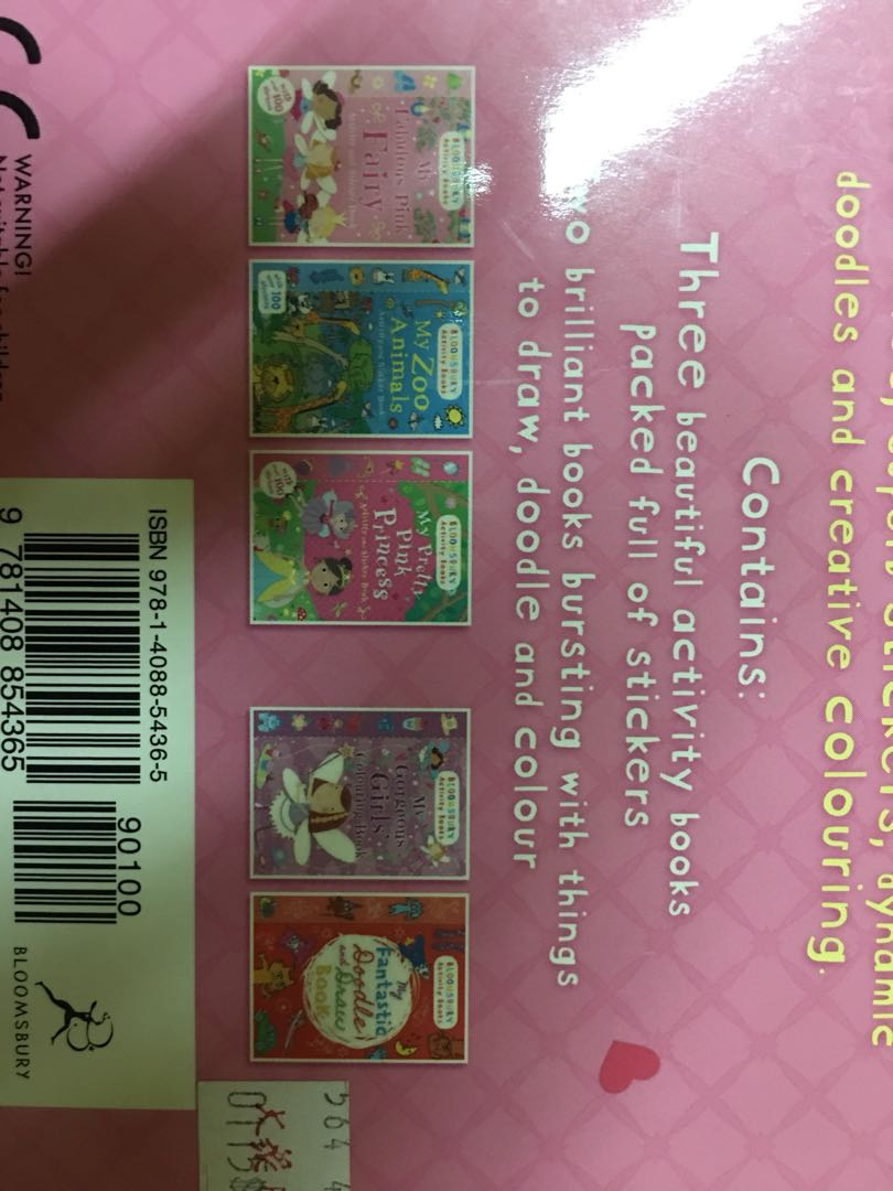 Bloomsbury Activity Books For Girls Stationery Childrens Sticker My Pretty Pink On Carousell