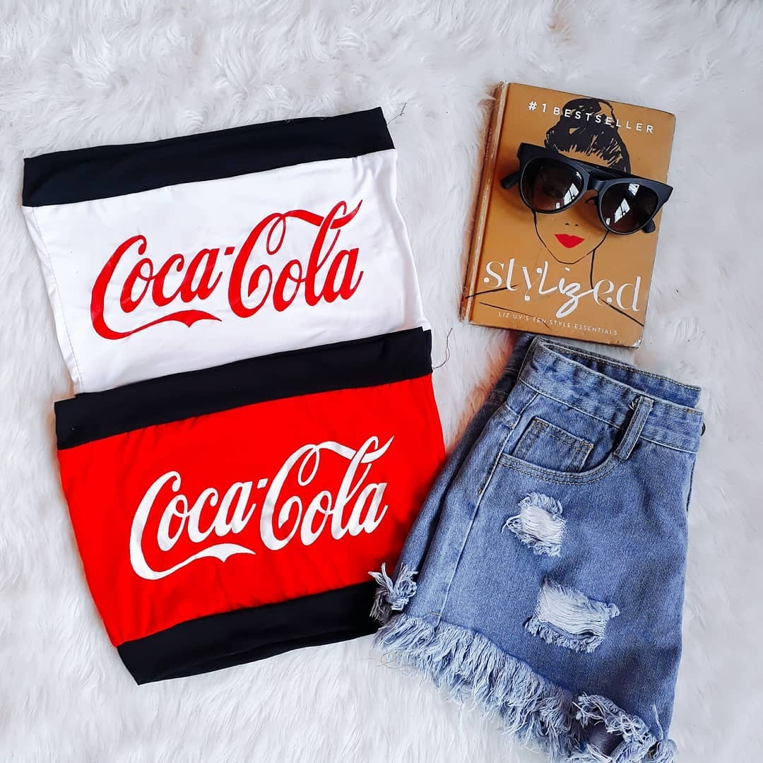 ed4d1a19d9b Coca Cola Tube Top, Women's Fashion, Clothes, Tops on Carousell