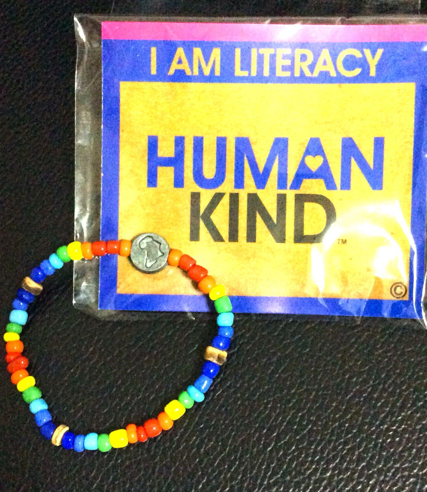 colourful beads elastic bracelet