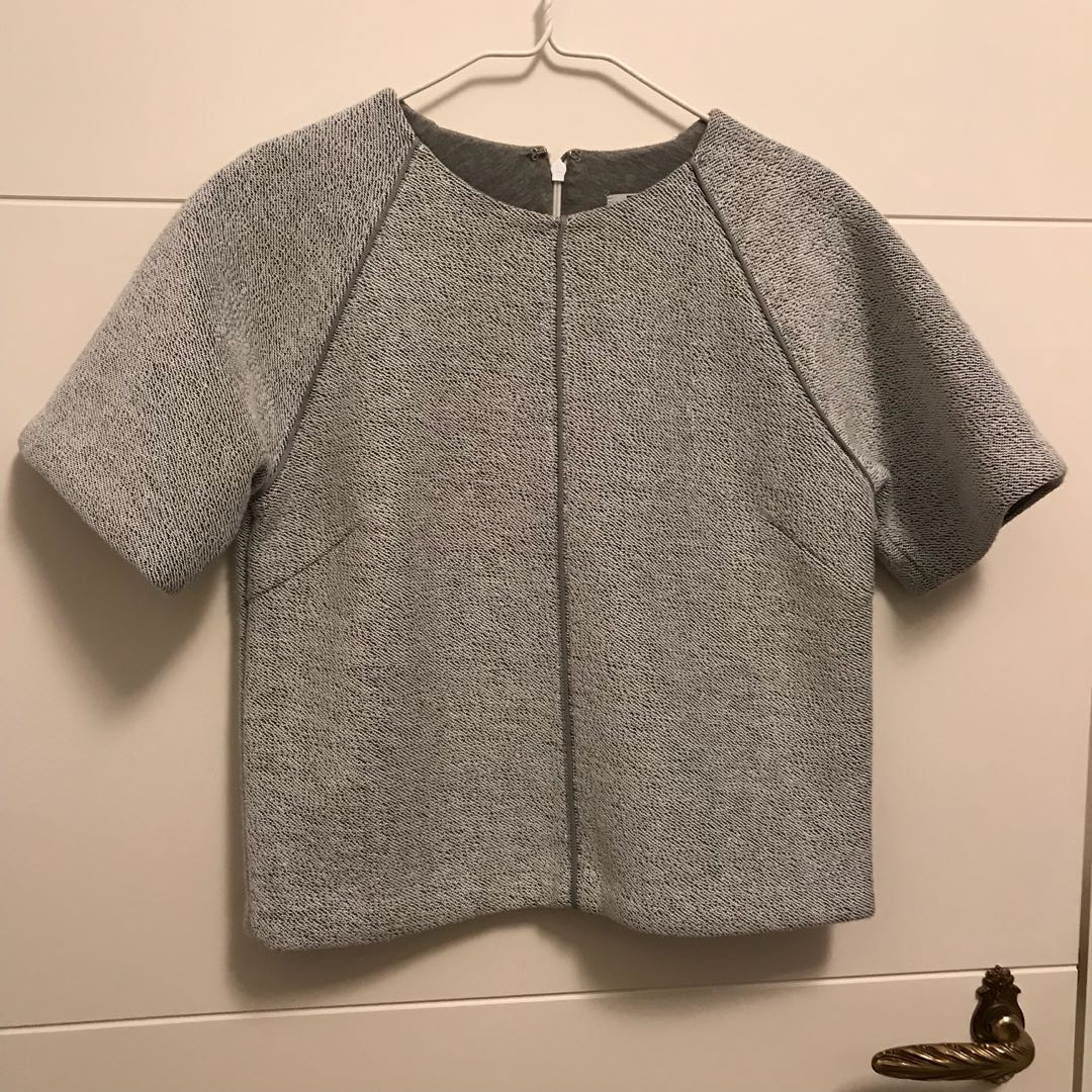 Cropped top -short sleeve