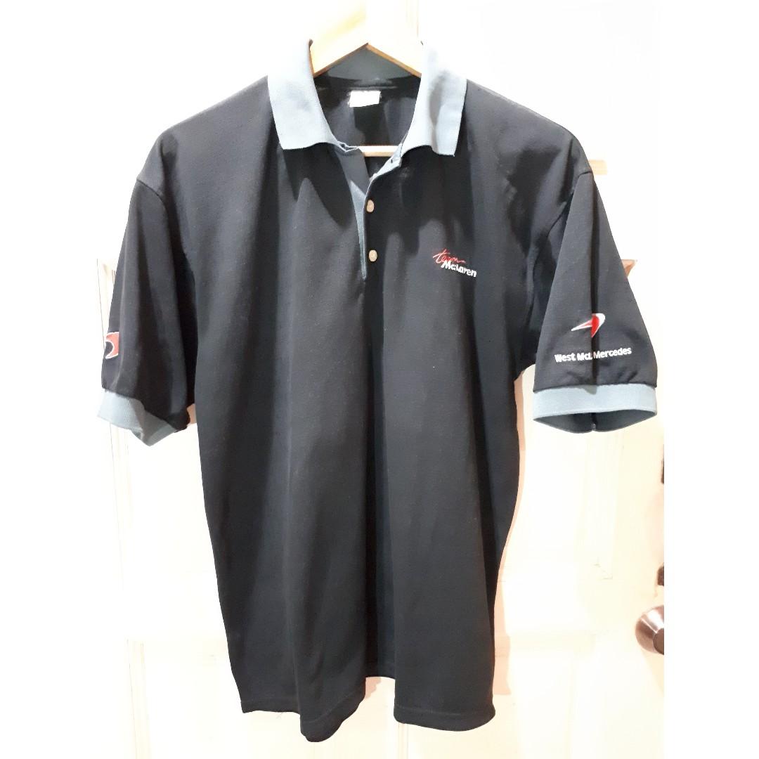 f1 west mclaren mercedes t-shirt, men's fashion, clothes, tops on
