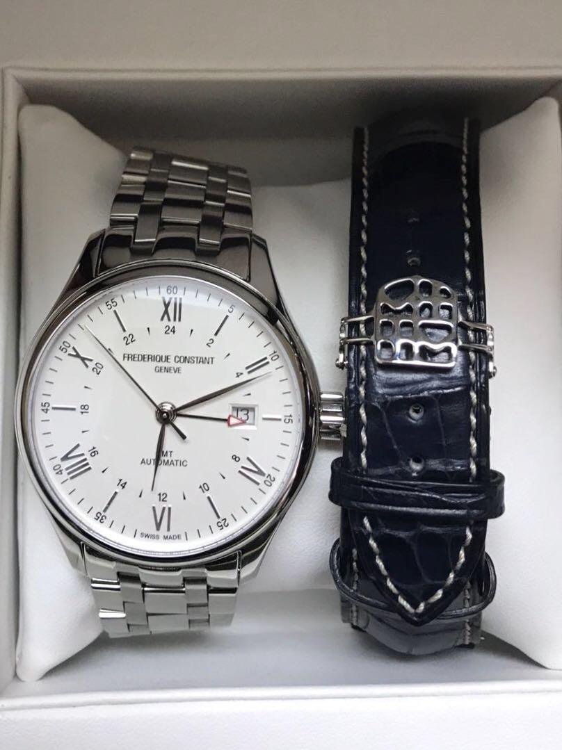 Frederique Constant Classics Index GMT Automatic Men's Watch.