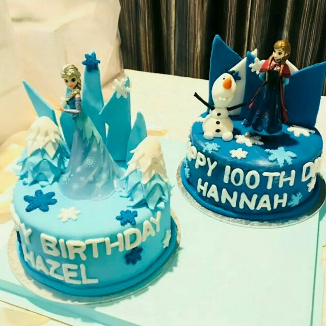 Frozen Anna Elsa Cake Food Drinks Baked Goods On Carousell
