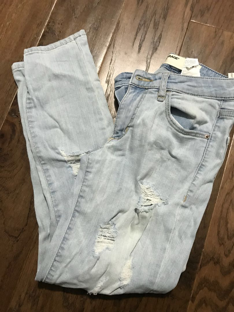 Garage Cropped Ripped Jeans