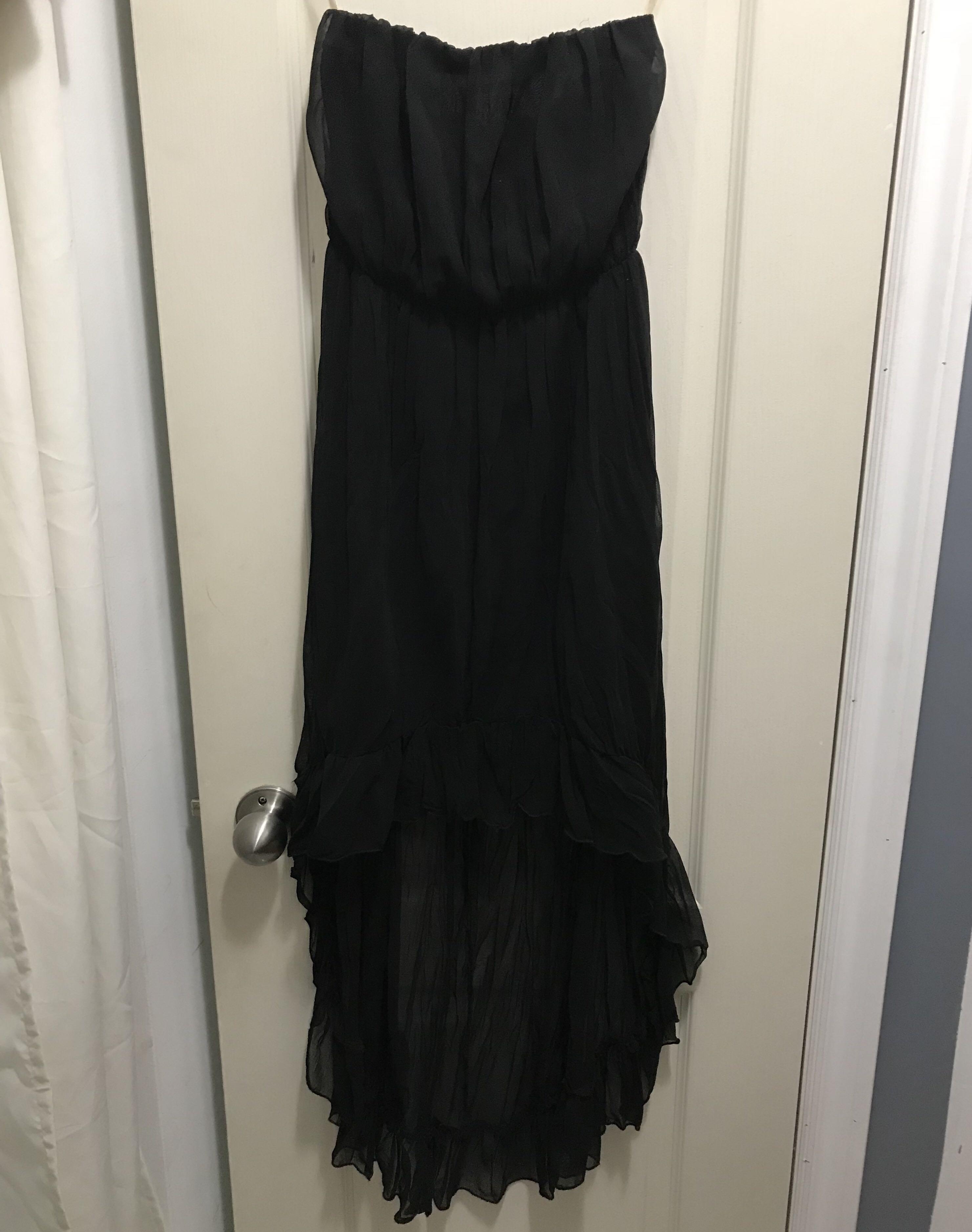 High low xs black dress