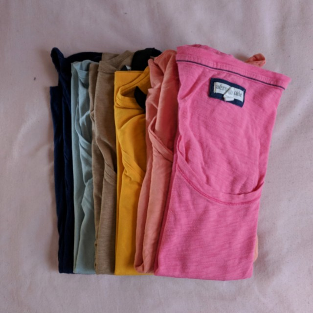H&M/Old Navy/Aero Random Solid Coloured Shirts