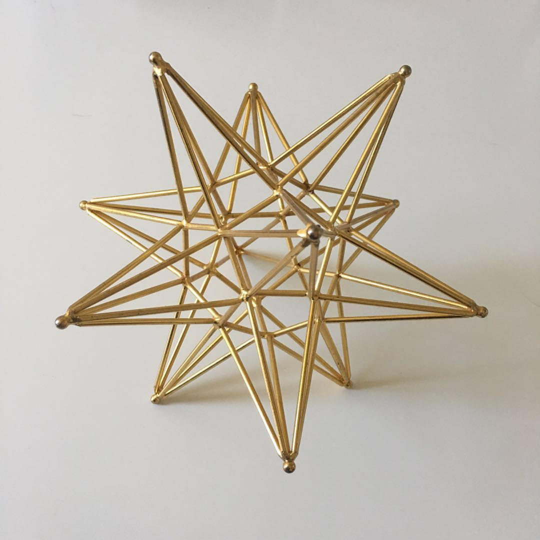Home decoration, gold star