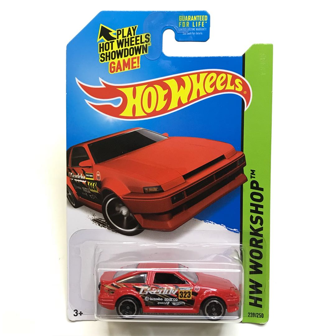 Hot Wheels Toyota AE-86 Corolla Red Initial D Jay Chou