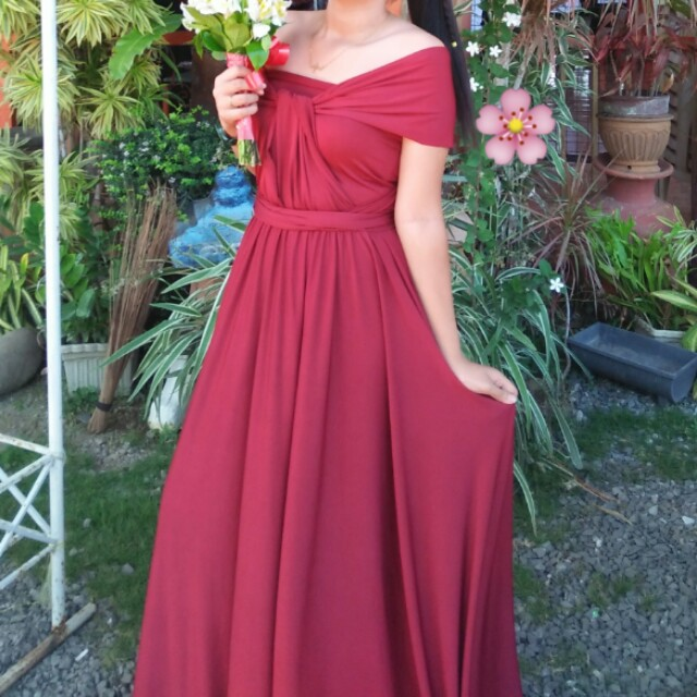 23a2d0761e5fe Infinity Dress (bridesmaid gown) wine red, Women's Fashion, Clothes ...