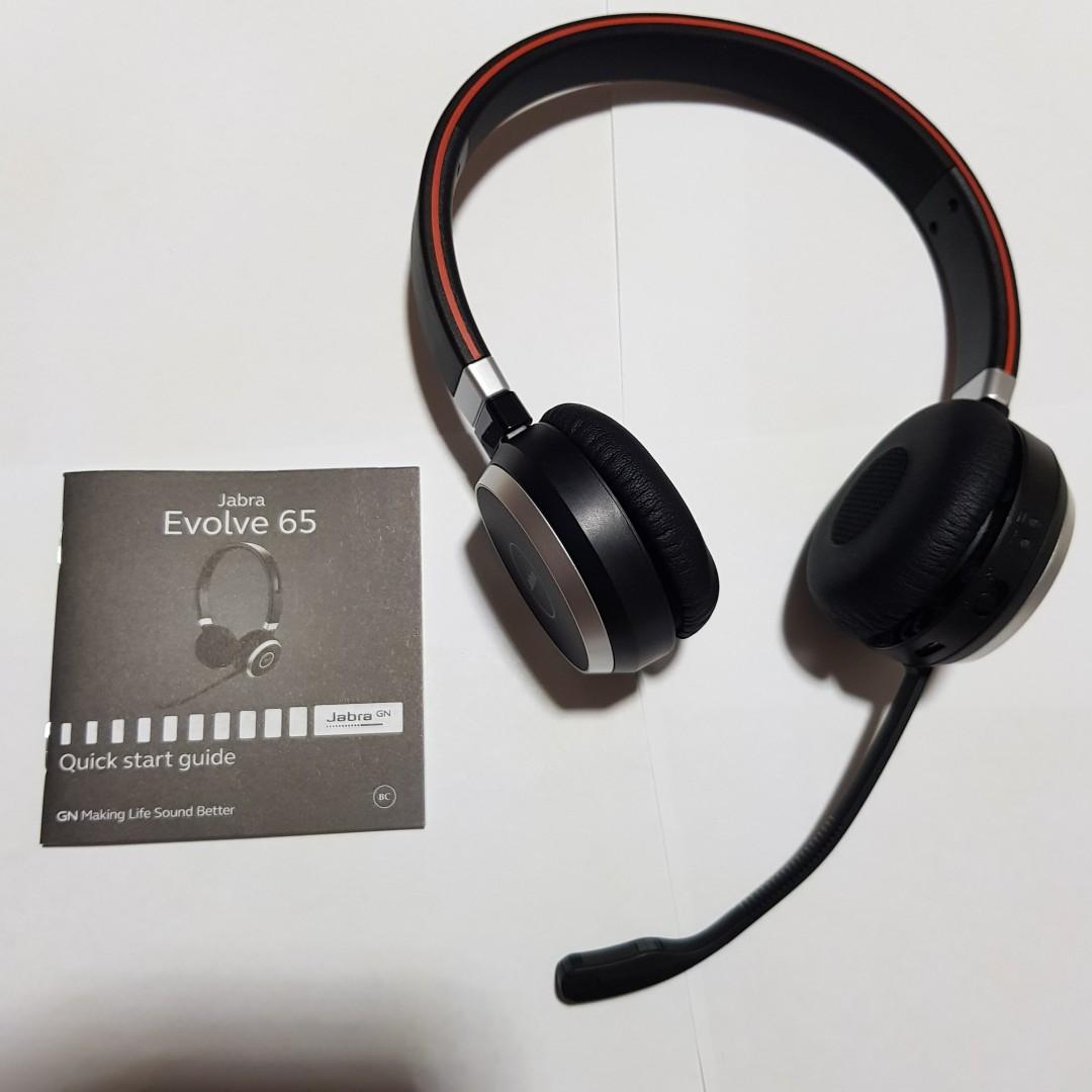 Jabra Evolve 65 Ms Stereo Link 370 Head Set Electronics Audio On Carousell