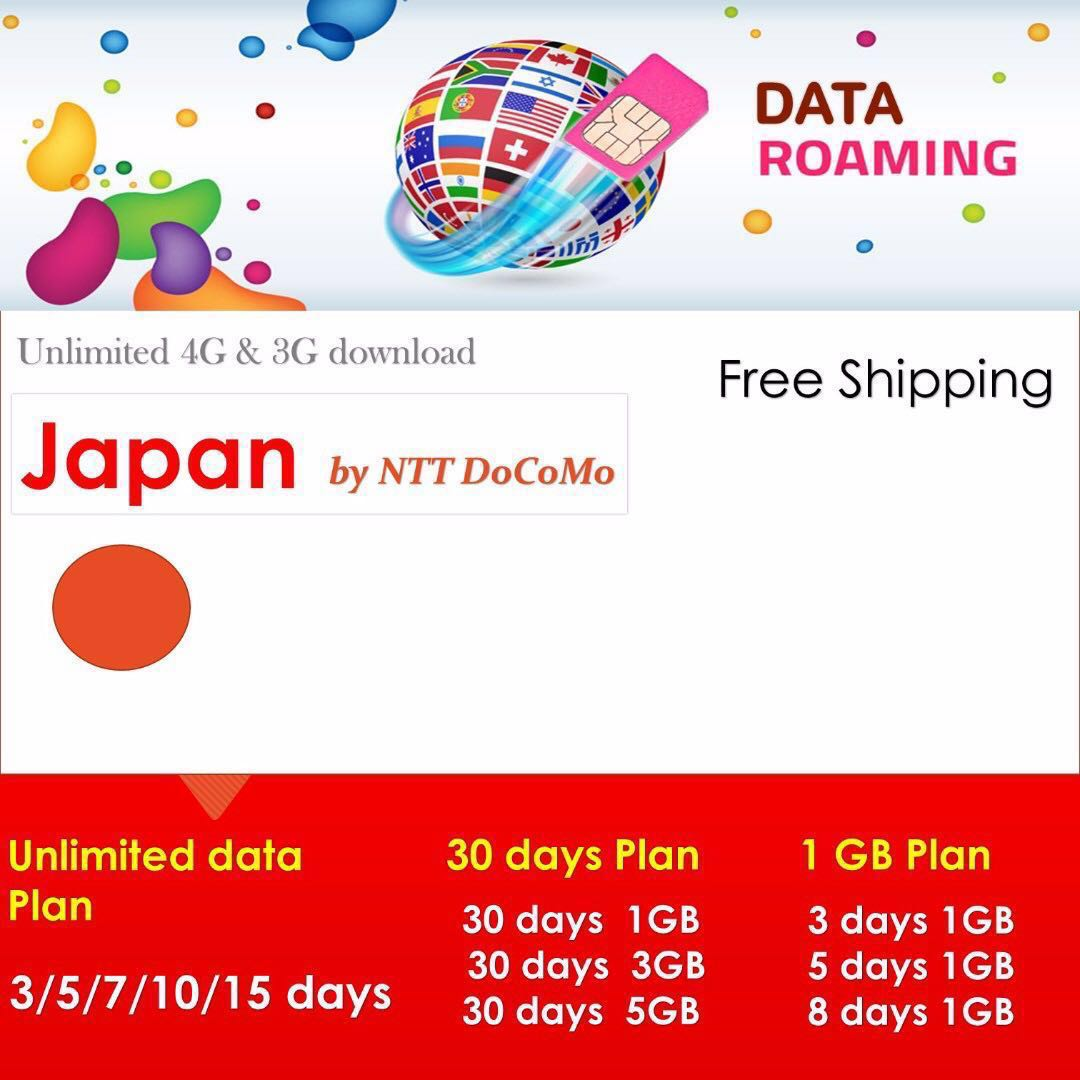 Japan SIM card - unlimited Data Roaming up to 15 days